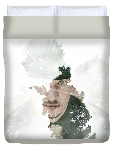 The Looking Glass Forest Man Duvet Cover