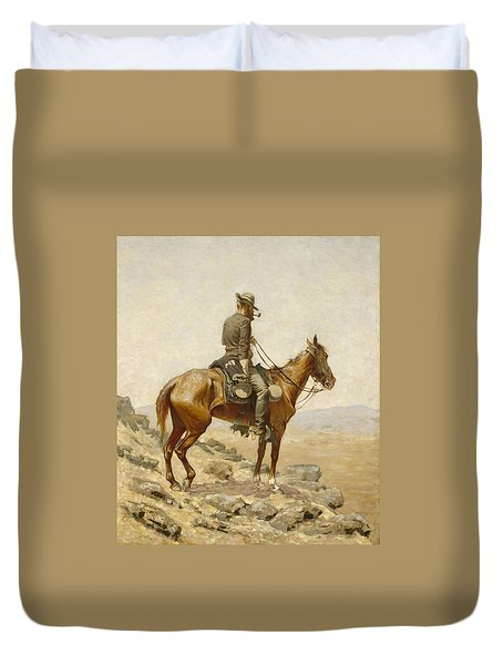 The Lookout Duvet Cover by Frederic Remington