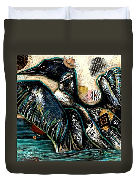 The Loon Duvet Cover
