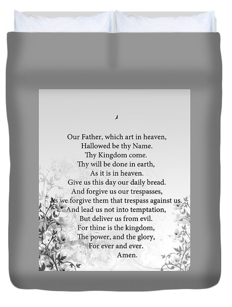 Duvet Cover featuring the painting The Lord's Prayer by Trilby Cole
