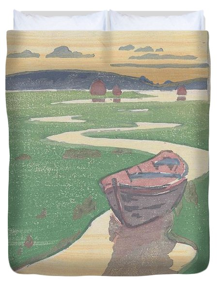 The Lost Boat , Arthur Wesley Dow Duvet Cover