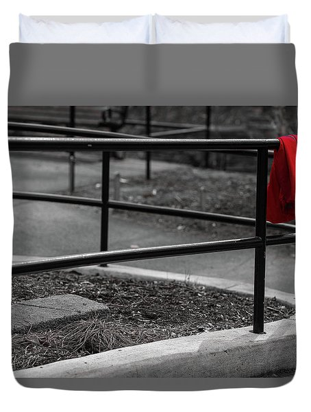 The Lost Red Jacket Duvet Cover