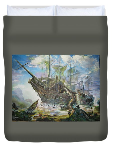 The Lost Ship Duvet Cover