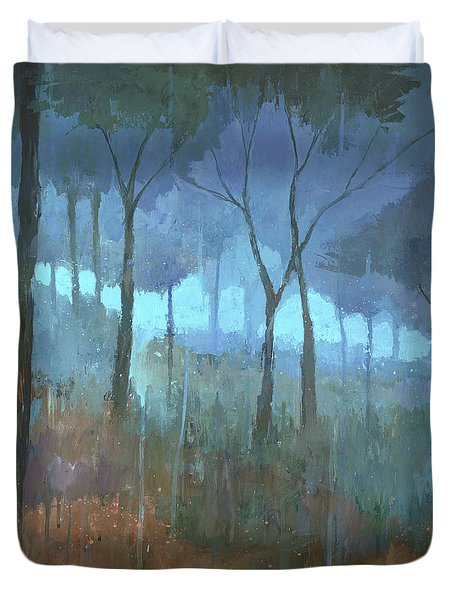 The Lost Trail Duvet Cover