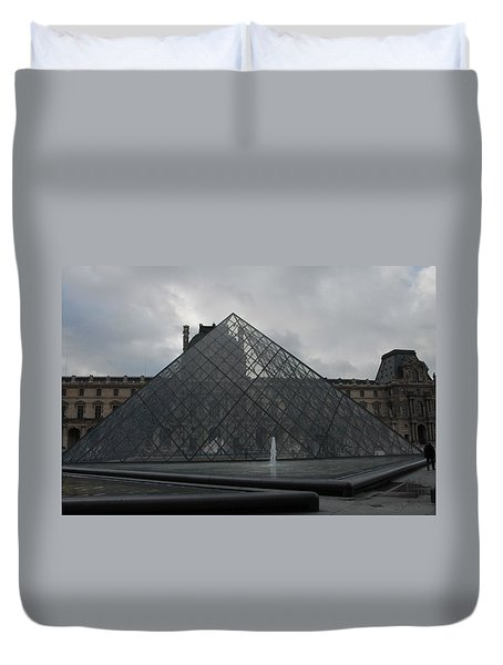 Duvet Cover featuring the photograph The Louvre And I.m. Pei by Christopher Kirby