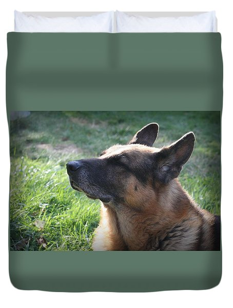 The Love Of An Old Dog Duvet Cover