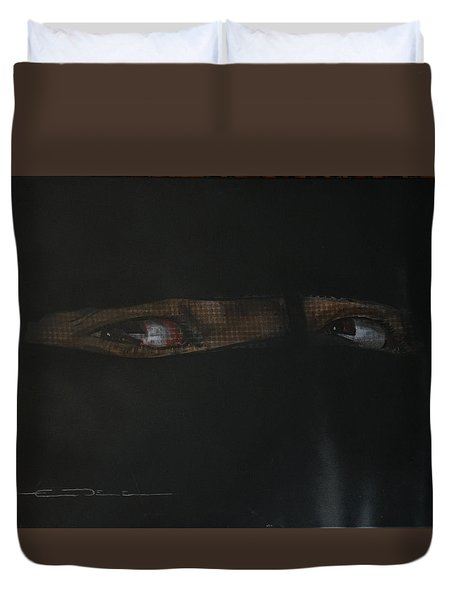 The Lovely Bride Hyphemas Portrait Duvet Cover by Eric Dee