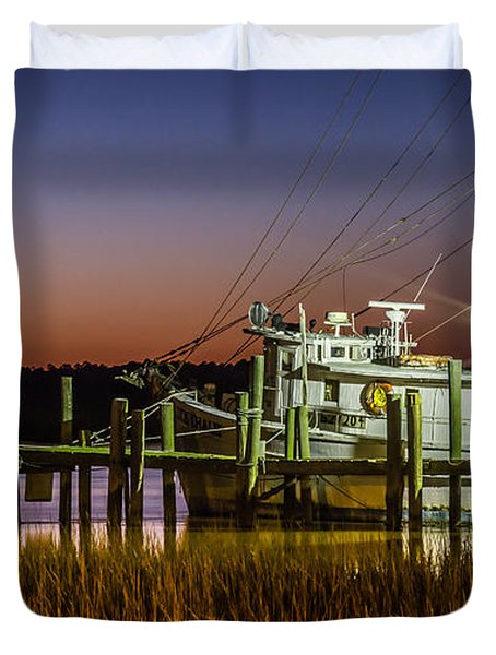 The Low Country Way - Folly Beach Sc Duvet Cover