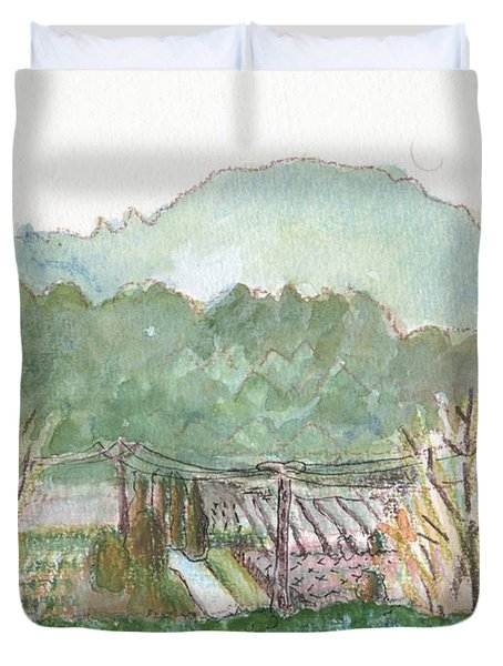The Luberon Valley Duvet Cover
