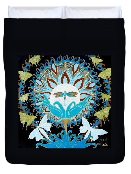 The Luna Moth Journey Of Faith And Love Duvet Cover