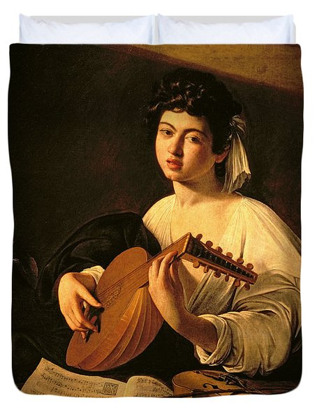 The Lute Player Duvet Cover