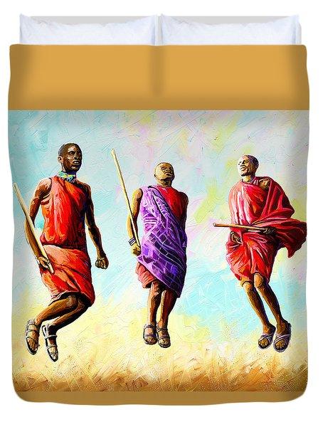 The Maasai Jump Duvet Cover