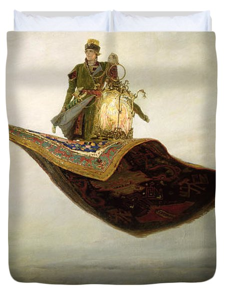 The Magic Carpet Duvet Cover by Apollinari Mikhailovich Vasnetsov