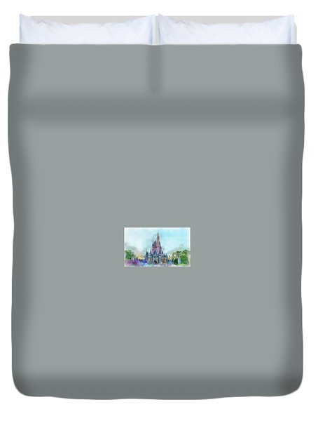 The Magic Kingdom Castle Wdw 05 Photo Art Mp Duvet Cover