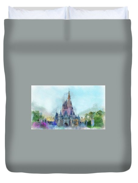 The Magic Kingdom Castle Wdw 05 Photo Art Duvet Cover