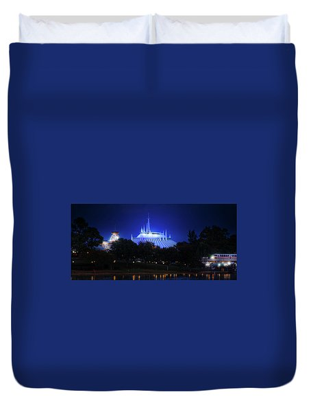 Duvet Cover featuring the photograph The Magic Kingdom Entrance by Mark Andrew Thomas