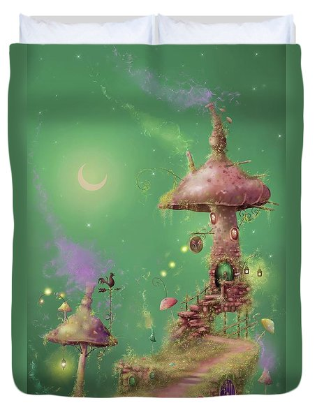 The Mushroom Gatherer Duvet Cover