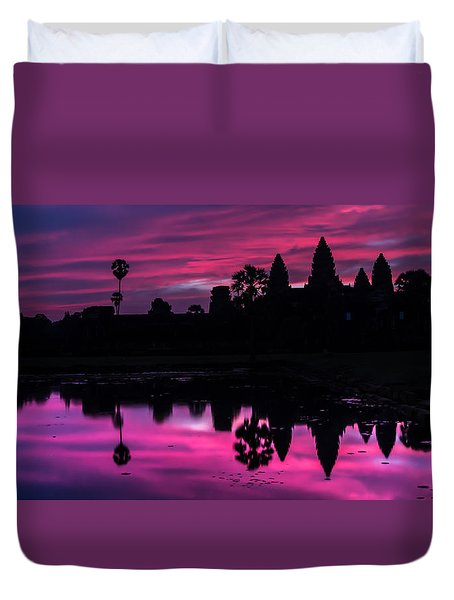 The Magic Of Angkor Wat Duvet Cover