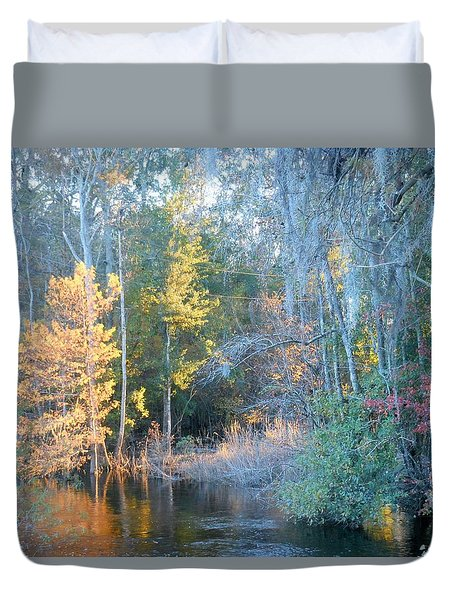 The Magic Of Autumn Sunshine Duvet Cover by Kay Gilley