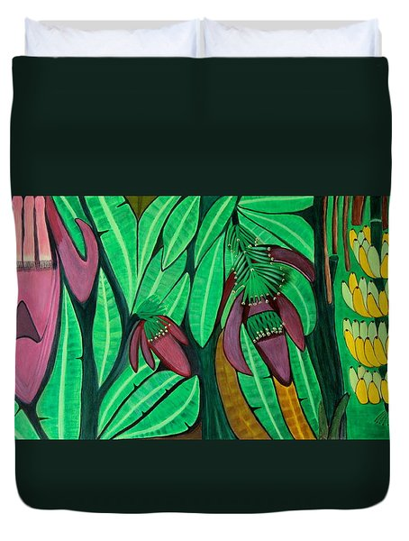 The Magic Of Banana Blossoms Duvet Cover