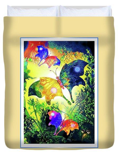 The Magic Of Butterflies Duvet Cover