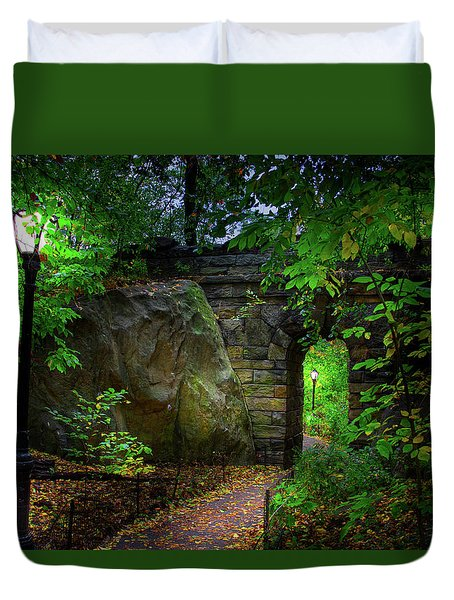 The Magic Of Central Park Duvet Cover by Mark Andrew Thomas