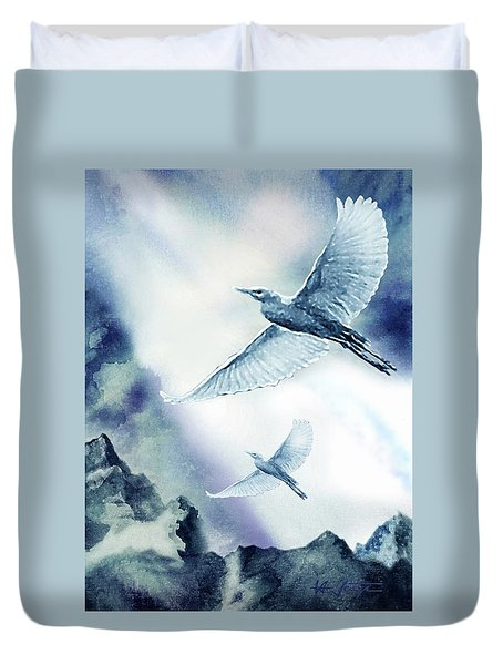 The Magic Of Flight Duvet Cover by Hartmut Jager