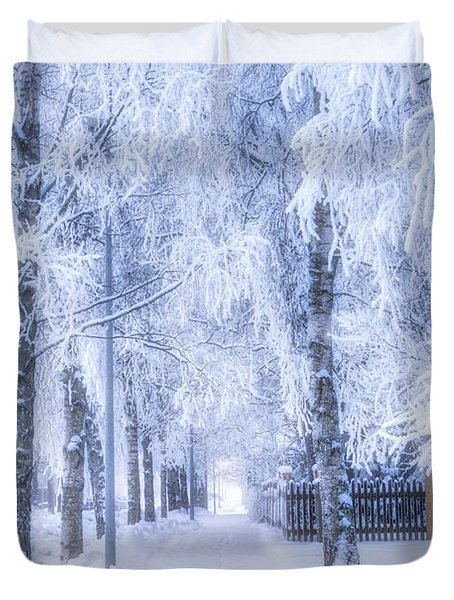 The Magic Of Winter 6 Duvet Cover