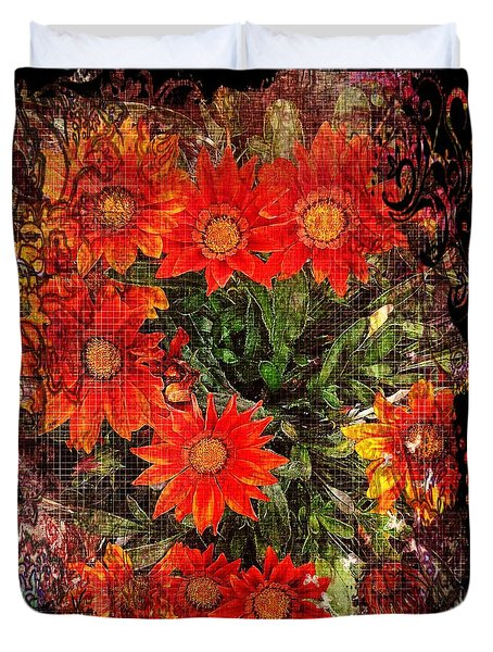 The Magical Flower Garden Duvet Cover
