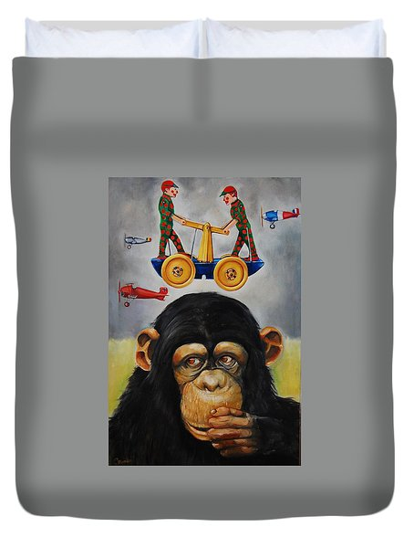 The Magnificent Flying Strauss Duvet Cover