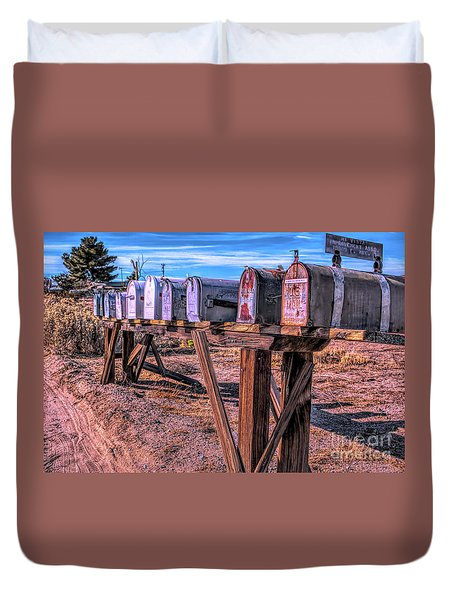 The Mailboxes Duvet Cover