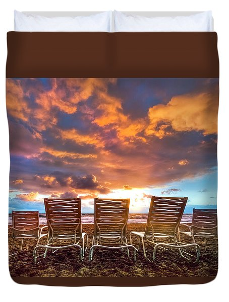 The Main Event Duvet Cover by Debra and Dave Vanderlaan