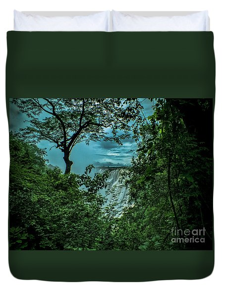 The Majestic Victoria Falls Duvet Cover by Karen Lewis