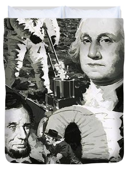 The Making Of America Montage Duvet Cover