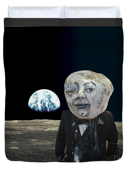 The Man In The Moon Duvet Cover