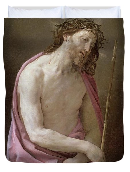 The Man Of Sorrows Duvet Cover by Guido Reni