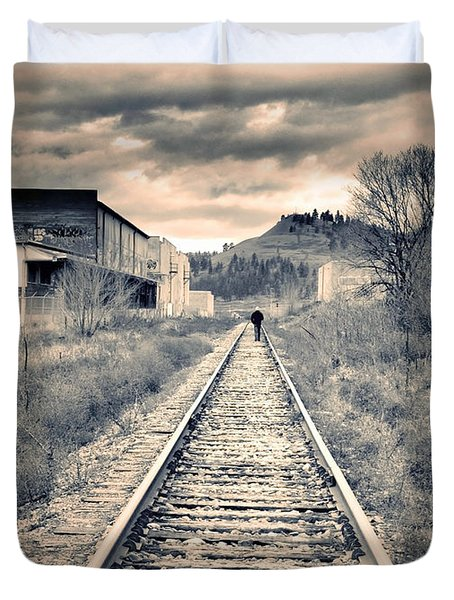 The Man On The Tracks Duvet Cover