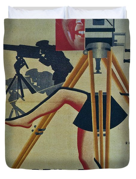 The Man With A Movie Camera Duvet Cover
