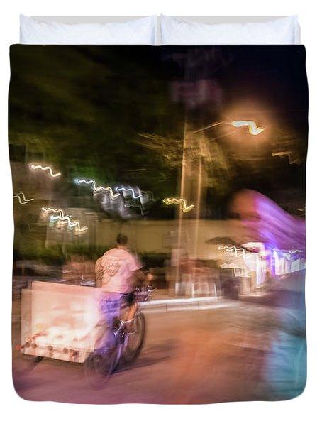 The Many Moods Of Duval Street Duvet Cover