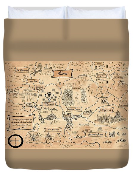 The Map Of The Enchanted Kira Duvet Cover