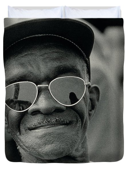 The March On Washington  A Smiling Man At Washington Monument Grounds Duvet Cover