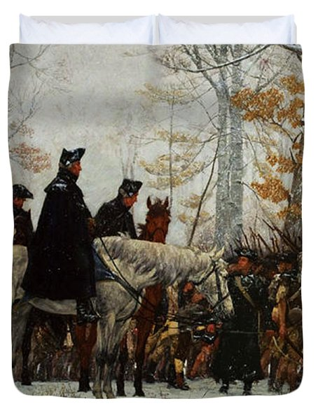 The March To Valley Forge, Dec 19, 1777 Duvet Cover