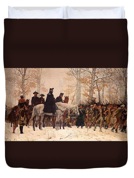 The March To Valley Forge Duvet Cover