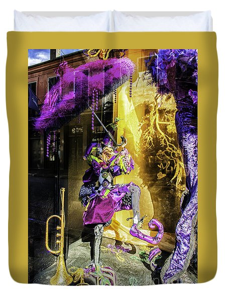 The Mardi Gras Jester Duvet Cover