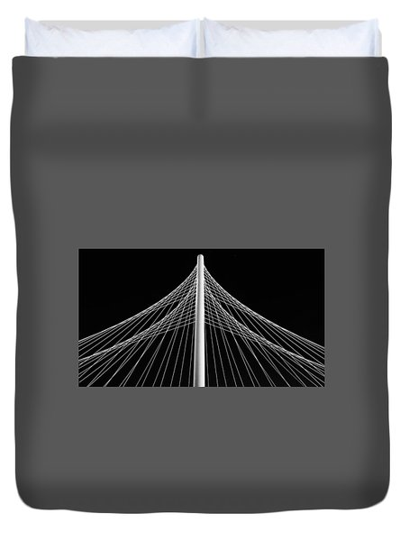 Duvet Cover featuring the photograph The Margaret Hunt Hill Bridge In Dallas by Robert Bellomy
