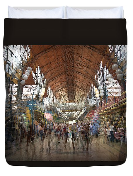 Duvet Cover featuring the photograph The Market Hall by Alex Lapidus