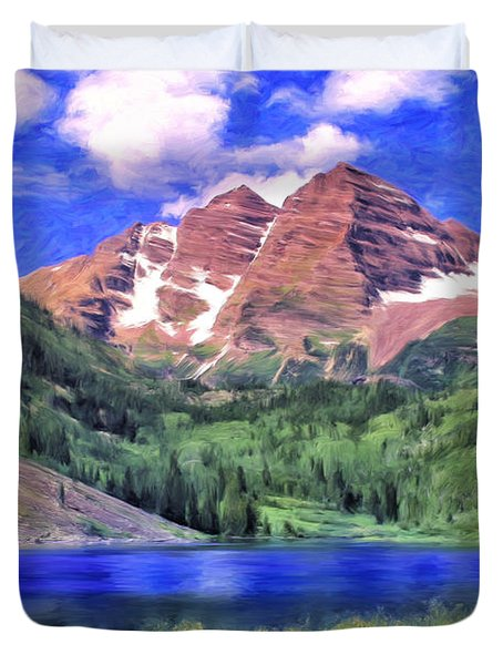 The Maroon Bells Duvet Cover