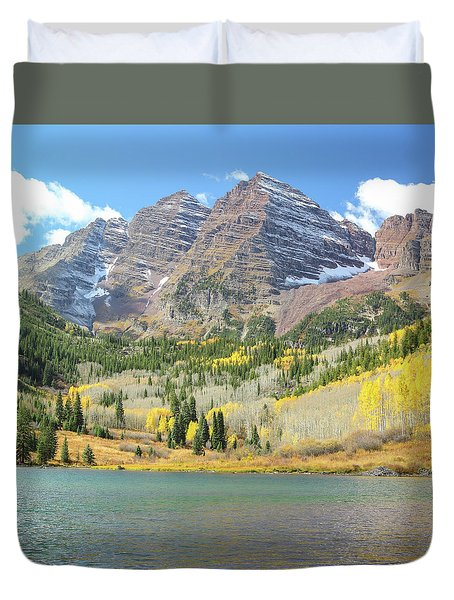 The Maroon Bells 2 Duvet Cover
