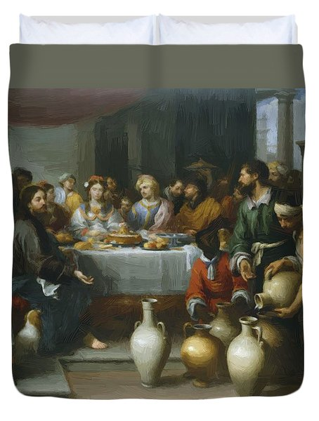 The Marriage Feast At Cana Duvet Cover