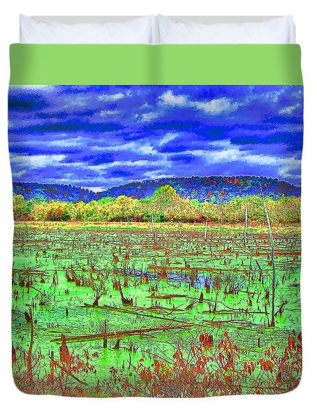 The Marshlands Duvet Cover by B Wayne Mullins